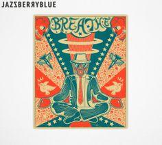 BREATHE, Giclee Fine Art Print, Modern Retro Steampunk Pop art by Jazzberry Blue on Etsy, $24.84 AUD