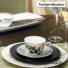 Twilight Meadow is now retired, and remaining items are 50% off! http://noritakechina.com/twilight-meadow.html #noritake #sale #dinnerware #tablescapes