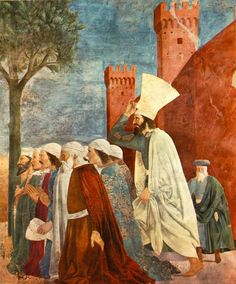 PIERO DELLA FRANCESCA - (1415 - 1492) - Exaltation of Cross (detail). Fresco. Basilica di San Francesco, Arezzo,Italy.