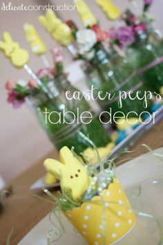 PEEPS Easter Table Decor - Delicate Construction