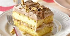 Chocolate and Hazelnut Slice, 10 Delicious Chocolate Dessert Recipes - Always in Trend Greek Sweets, Greek Desserts, Healthy Desserts, Easy Desserts, Layered Desserts, Delicious Chocolate, Chocolate Desserts, Chocolate Hazelnut, Sweet Recipes