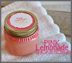 Pink Lemonade Sugar Scrub :http://www.sparklesofsunshine.com/pink-lemonade-sugar-scrub/