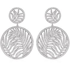 Theo Fennell Palm Diamond Double Disc Earrings (£10,500) ❤ liked on Polyvore featuring jewelry, earrings, 18k jewelry, formal jewelry, diamond earrings, palm tree earrings and palm jewelry