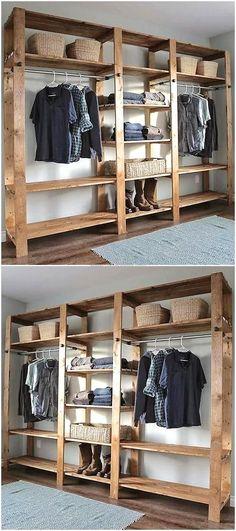 pallets wooden closet