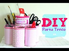 DIY Porta Treco Reciclável - YouTube