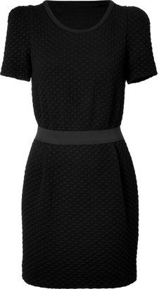 ShopStyle: Sandro Black Fitted Dress