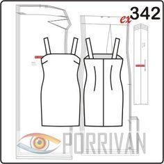 624f092f018 Симпатичное и простое мини платье на бретельках — коктейльное. Выкройка  построена для тканей на трикотажной