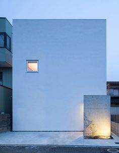 Home designed to look like a block of tofu. | House T by Takeshi Hamada