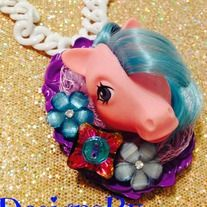 Niftyvintagegirl on Storenvy Retro Vintage My Little Pony Necklace kawaii fashion by Leesie Lee Niftyvintagenecklace.com