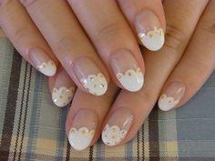 French nails white ❤