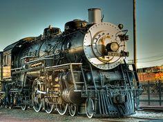 Temple, TX Railroad & Heritage Museum    A.T. & S.F - Santa Fe #3423 LocomotivePhotomatrix HDRPhoto by Bill Oriani