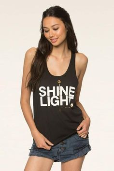 Shine Light Arrow Racerback Tank - Spiritual Gangster - 1