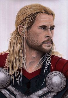 Thor (Age of Ultron) coloured pencil drawing.