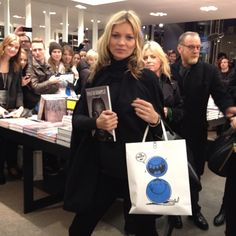 Kate Moss book signing.
