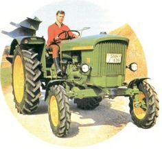 John Deere Lanz 710,   Artwork from the mid 1960s