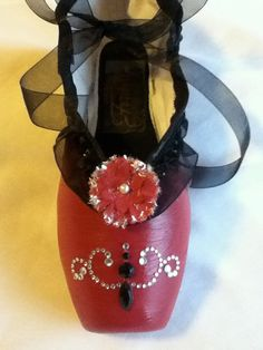 Spanish .... Decorated Pointe Shoe by JazzedUpPointes on Etsy, $24.00
