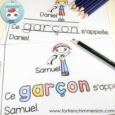 FRENCH Emergent Reader - ce GARÇON