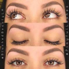lash extensions styles How To Grow Long Eyelashes FAST! Silk Eyelash Extensions, Best Lash Extensions, Eyelash Extensions Before And After, Natural Looking Eyelash Extensions, Get Long Eyelashes, Longer Eyelashes, Permanent Eyelashes, Feather Eyelashes, Makeup Ideas