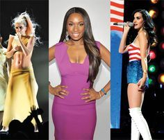 Lady Gaga, Jennifer Hudson, and Katy Perry Work out routine. 3x's. 20 reps each.