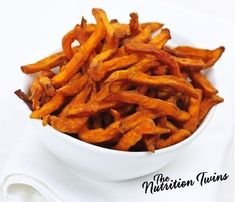 Sweet Potato Fries | Easy & Scrumptious | Perfect if You Can't Resist The Smell of French Fries | For MORE RECIPES please SIGN UP for our FREE NEWSLETTER www.NutritionTwins.com