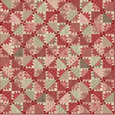 Pommel de Pin Quilt Kit with Fabrics from by SunValleyFabric