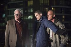 Still of Victor Garber, Wentworth Miller and Dominic Purcell in Legends of Tomorrow (2016)