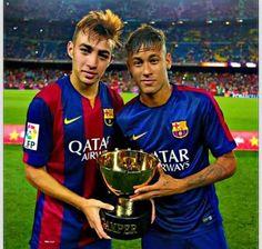 Munir a Neymar Jr. V tu dobu, ještě nemohl Neymar Jr hrát, protže měl po zranění z MS v Brazílii. Docházel pravidelně na rehabilitace.