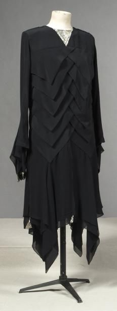 Silk crepe dress 1930