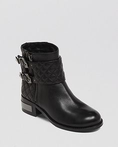 VINCE CAMUTO Booties - Winta Quilted Moto | Bloomingdale's / $198