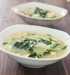Egg Drop Soup With Shitake Mushrooms and Bok Choy by EclecticRecipes.com #recipe