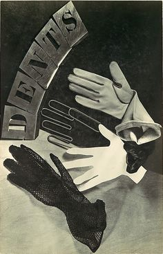 """ratak-monodosico: """" Dents, Ringl and Pit (Grete Stern and Ellen Auerbach), ca. advertising still life for women's gloves (source) """" 1920s Advertisements, Retro Advertising, Surrealist Photographers, Female Photographers, Grete Stern, Pale Fire, Photocollage, Double Exposure, Vintage Images"""