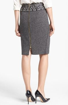 Rachel Roy Mixed Media Pencil Skirt | Nordstrom