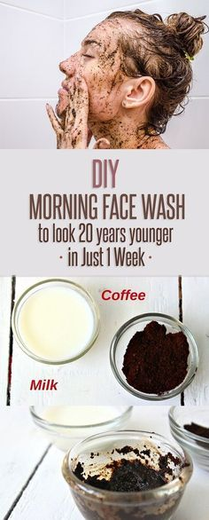 DIY Morning Face Wash To Look 20 Years Younger in Just 1 Week.