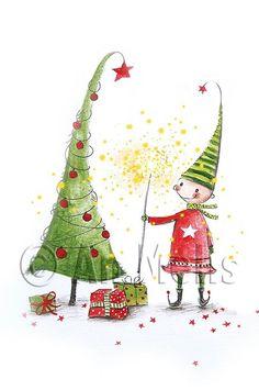Nieuwjaarsbrief An Melis Christmas Rock, Whimsical Christmas, Vintage Christmas Cards, Christmas Images, Christmas Signs, Christmas Tree Decorations, Christmas Crafts, Christmas Pictures To Draw, Xmas Tree