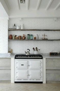 Stylish Kitchens With Brick Walls And Ceilings
