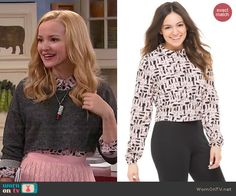 Liv's nail polish print shirt on Liv and Maddie.  Outfit Details: http://wornontv.net/45455/ #LivandMaddie
