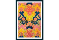 Try a bit of far-flung flair for your walls with this Indian Batik. Casual Art, India Colors, Girl House, Mandala Pattern, Color Inspiration, Bedroom Inspiration, Bedroom Ideas, Decorative Accessories, Accent Decor