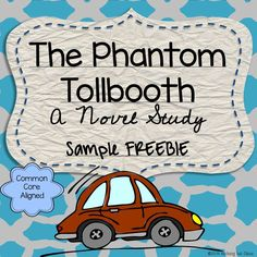 This is a 6 page sample of my best-selling novel study for The Phantom Tollbooth by Norton Juster. It includes 3 pages of student work for Chapter 1, along with its answer key.
