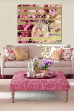 Oliver Gal Fields of Rose Fine Art Print on Canvas by Oliver Gal Gallery on @HauteLook