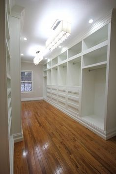 Closet Built-in ~ oh, my goodness ~ I would love this much space for our clothing and personal items.