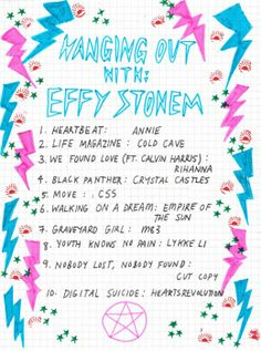 effy stonem playlist / rookie