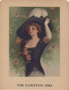 "Cawston Advertising Card: The Cawston Girl ""Rosa"", c. 1914-1924"