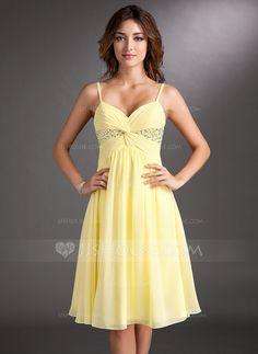A-Line/Princess Sweetheart Knee-Length Chiffon Homecoming Dress With Ruffle Beading Sequins (022020701)