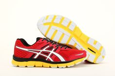 Red White Black Yellow ASICS Quick 33 Mens Shoes #onitsukatiger