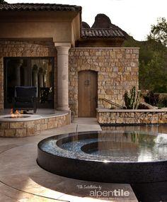 Portfolio : Alpentile Glass Tile Pools and Spas