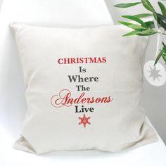 Christmas Personalised Family Cushion