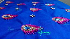 Feather stitch aari embroidery..