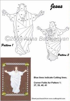 Jesus on Craftsuprint designed by Anna Babajanyan - I have included 2 versions of the same pattern, the second version is a silhouette. This pattern is suitable not only for Easter, but also for Christmas, and many other occasion cards. - Now available for download!