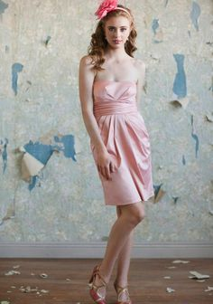 Ruche bridesmaid dress