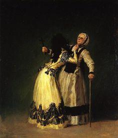 La duchesse d'Albe et sa Duègne - Francisco de Goya (1746-1828, Spain)